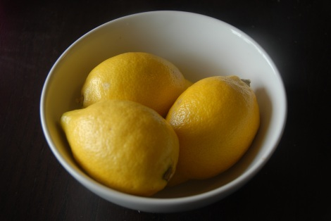 Lemons ready for zesting and slicing